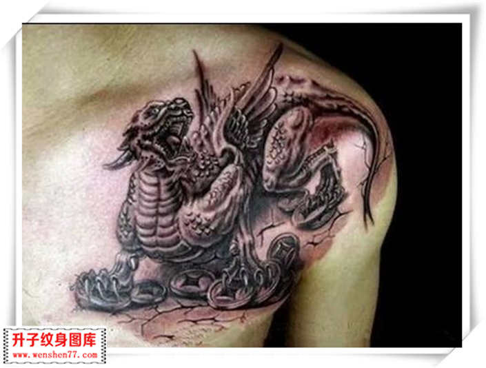 关于神兽中的麒麟和貔貅的区别?_重庆观音桥纹身-升子