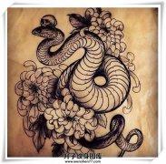 """本期观音桥纹身推出""""蛇""""纹身图案大全 免费设"""