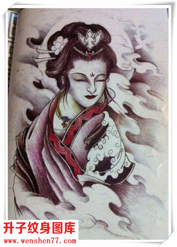 艺妓纹身手稿 艺妓纹身图案大全