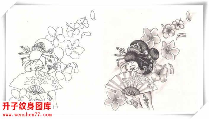 艺妓纹身图案