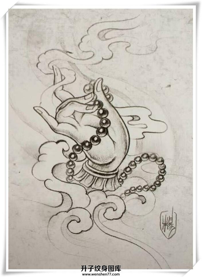 佛手纹身手稿