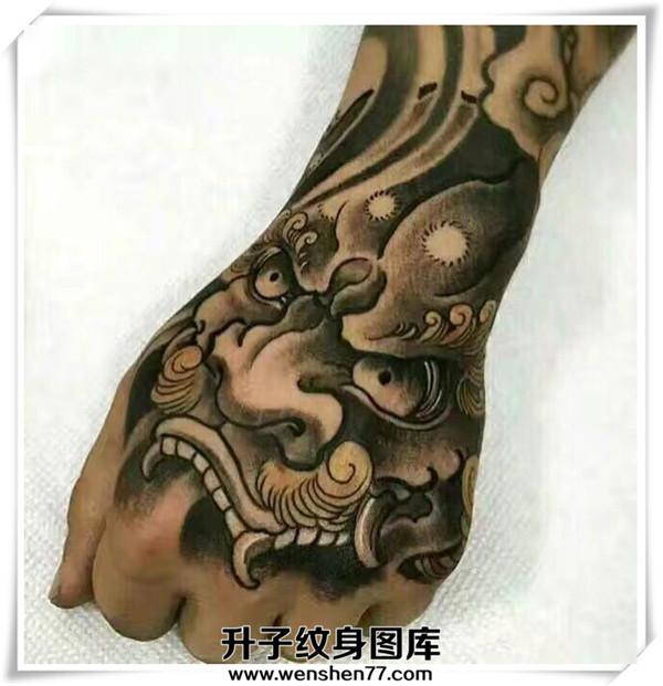 手背纹身多少钱手背唐狮纹身价格图片