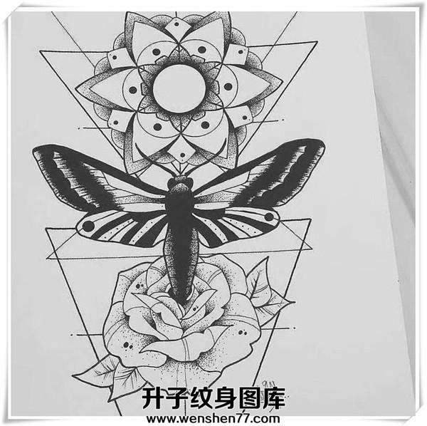 点刺纹身手稿 梵花纹身 梵花纹身价格