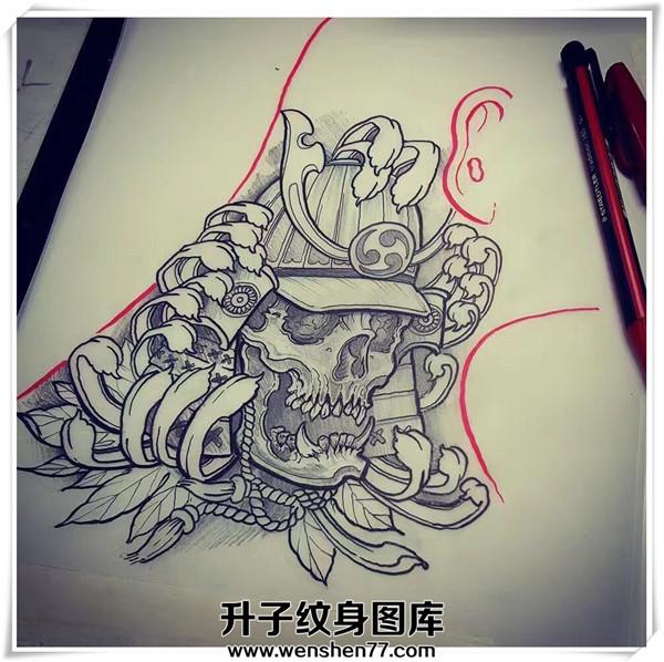 武士纹身手稿 武士纹身价格 重庆纹身费用
