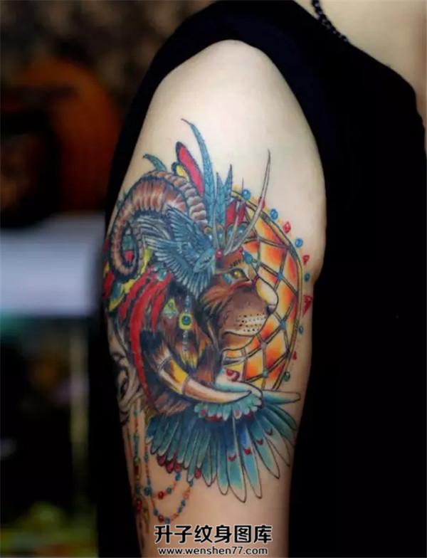 北京纹身 手臂虎头纹身图案