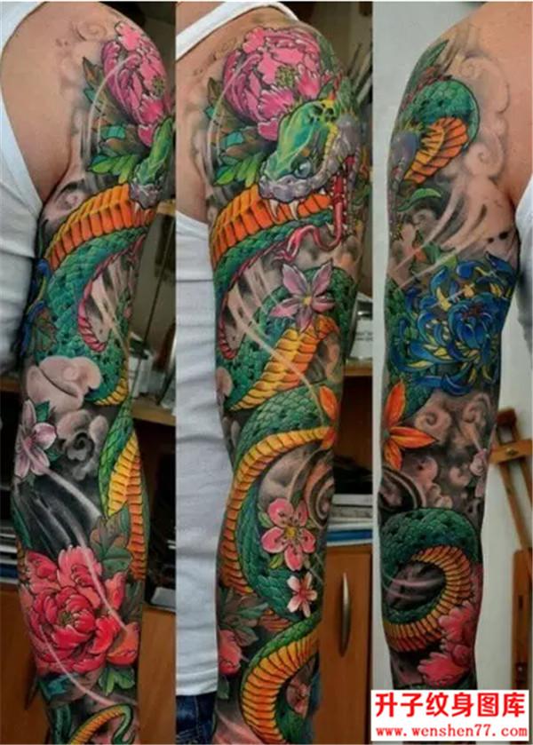 传统纹身-蛇纹身图案-蛇纹身图片大全__花臂纹身图案