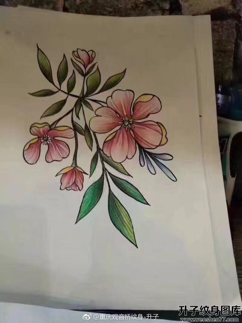 植物纹身手稿图案大全