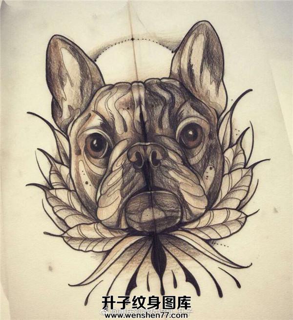 动物纹身_狗纹身手稿图案-狗纹身图片