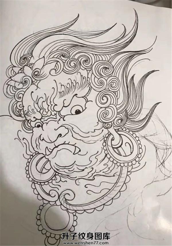 不动明王纹身手稿