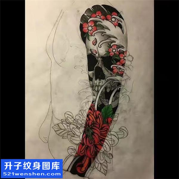 花臂纹身手稿图案大全 花臂纹身价格