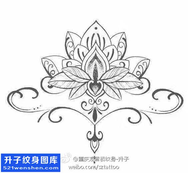梵花纹身手稿图案大全 - 梵花纹身图片 梵花纹身寓意
