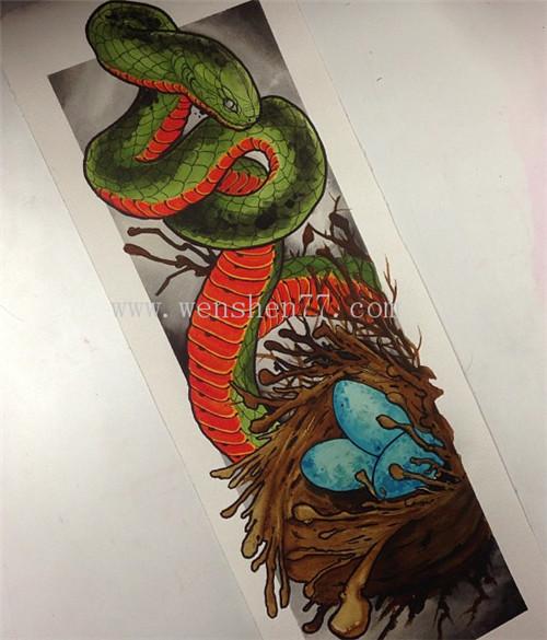 蛇纹身 蛇纹身手稿图案大全