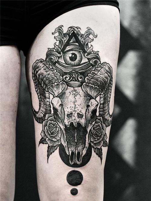 十二生肖纹身 羊头纹身 羊头纹身图案 羊头纹身寓意