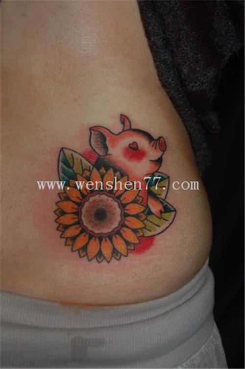 重庆纹身培训 十二生肖纹身 -猪纹身 -猪纹身图案 -猪